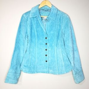 LAL Live a Little Turquoise Leather Large Jacket